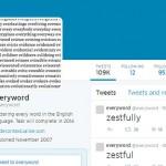 Твиттер, уже 7 лет автоматически публикующий отдельные слова, достигает конца словаря