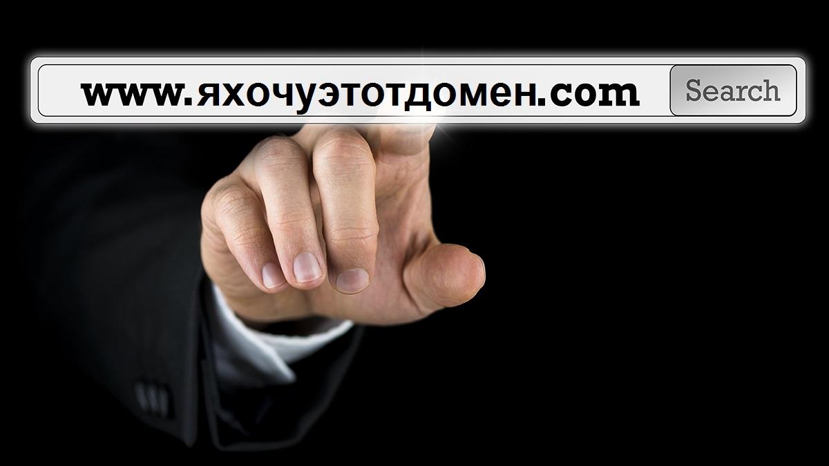 что делать если выбранный вами домен занят