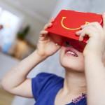 Google Cardboard от McDonald's — аналог гарнитуры виртуальной реальности